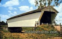 cou100167 - Geeting, Preble Co, OH USA Covered Bridge Postcard Post Card Old Vintage Antique