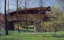 cou100169 - Humpback, VA USA Covered Bridge Postcard Post Card Old Vintage Antique