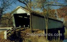 cou100171 - Darlington, IN USA Covered Bridge Postcard Post Card Old Vintage Antique