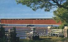cou100172 - Centreville, MI USA Covered Bridge Postcard Post Card Old Vintage Antique
