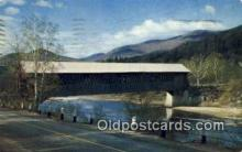 cou100173 - White Mtns, NH USA Covered Bridge Postcard Post Card Old Vintage Antique