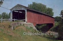 cou100174 - Eugene, Vermillion Co, IN USA Covered Bridge Postcard Post Card Old Vintage Antique