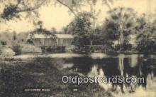 cou100175 - Old Covered Bridge, USA Covered Bridge Postcard Post Card Old Vintage Antique