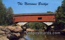 cou100176 - The Narrows, Charleston, IL USA Covered Bridge Postcard Post Card Old Vintage Antique