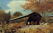 cou100177 - Old Covered Bridge, USA Covered Bridge Postcard Post Card Old Vintage Antique