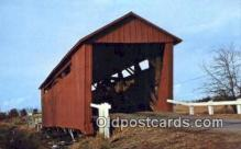 cou100180 - Illinois, Sangamon Co, USA Covered Bridge Postcard Post Card Old Vintage Antique