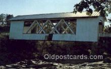 cou100183 - Jordan, Linn Co, OR USA Covered Bridge Postcard Post Card Old Vintage Antique