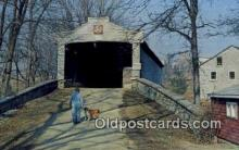 cou100185 - Hex Sign, Berks Co, PA USA Covered Bridge Postcard Post Card Old Vintage Antique