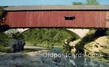 cou100186 - Narrows, Parke Co, IN USA Covered Bridge Postcard Post Card Old Vintage Antique