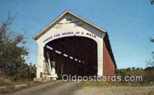 cou100188 - Jessup, Parke Co, IN USA Covered Bridge Postcard Post Card Old Vintage Antique
