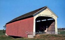 cou100190 - Catlin, Parke Co, IN USA Covered Bridge Postcard Post Card Old Vintage Antique