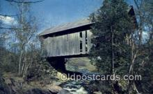 cou100192 - Covered Bridge, VT USA Covered Bridge Postcard Post Card Old Vintage Antique