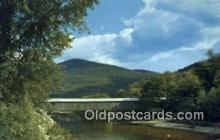 cou100194 - Old Scott Bridge, VT USA Covered Bridge Postcard Post Card Old Vintage Antique