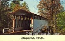 cou100197 - Breezewood, PA USA Covered Bridge Postcard Post Card Old Vintage Antique