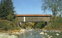 cou100199 - Jeffersonville, VT USA Covered Bridge Postcard Post Card Old Vintage Antique