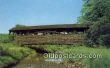 cou100200 - Williamsport, PA USA Covered Bridge Postcard Post Card Old Vintage Antique