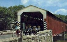 cou100201 - Soudersburg, USA Covered Bridge Postcard Post Card Old Vintage Antique