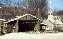 cou100202 - Waitsfield, VT USA Covered Bridge Postcard Post Card Old Vintage Antique