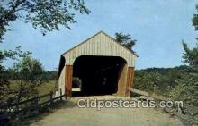 cou100203 - Hartland, VT USA Covered Bridge Postcard Post Card Old Vintage Antique