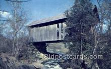 cou100204 - Vermont, USA Covered Bridge Postcard Post Card Old Vintage Antique