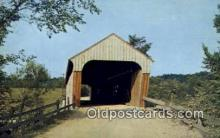 cou100208 - Hartland, VT USA Covered Bridge Postcard Post Card Old Vintage Antique