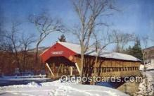 cou100209 - Jackson, White Mountains, NH USA Covered Bridge Postcard Post Card Old Vintage Antique