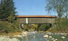 cou100210 - Jeffersonville, VT USA Covered Bridge Postcard Post Card Old Vintage Antique
