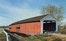 cou100214 - Thorpe, Parke Co, IN USA Covered Bridge Postcard Post Card Old Vintage Antique
