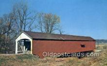 cou100216 - Jessup, Parke Co, IN USA Covered Bridge Postcard Post Card Old Vintage Antique