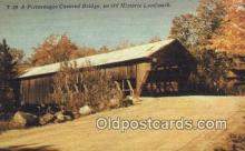 cou100217 - Covered Bridge, USA Covered Bridge Postcard Post Card Old Vintage Antique