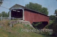 cou100218 - Eugene, Vermillion Co, IN USA Covered Bridge Postcard Post Card Old Vintage Antique