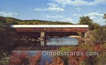 cou100219 - Blair, Campton, NH USA Covered Bridge Postcard Post Card Old Vintage Antique