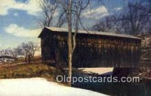 cou100220 - East Bethel, White River, USA Covered Bridge Postcard Post Card Old Vintage Antique