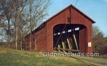 cou100223 - James, Jennings Co, IN USA Covered Bridge Postcard Post Card Old Vintage Antique