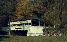 cou100224 - Valley Forge, PA USA Covered Bridge Postcard Post Card Old Vintage Antique
