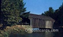 cou100226 - Dummerston, VT USA Covered Bridge Postcard Post Card Old Vintage Antique