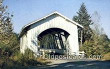 cou100227 - Hannah, Linn Co, OR USA Covered Bridge Postcard Post Card Old Vintage Antique