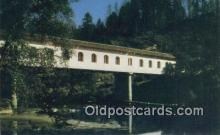 cou100228 - Lonerock, Roseburg, OR USA Covered Bridge Postcard Post Card Old Vintage Antique