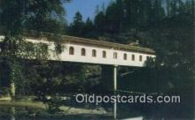 cou100229 - Lonerock, Roseburg, OR USA Covered Bridge Postcard Post Card Old Vintage Antique