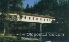 cou100231 - Lonerock, Roseburg, OR USA Covered Bridge Postcard Post Card Old Vintage Antique