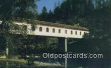 cou100232 - Lonerock, Roseburg, OR USA Covered Bridge Postcard Post Card Old Vintage Antique