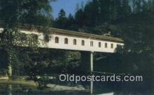 cou100233 - Lonerock, Roseburg, OR USA Covered Bridge Postcard Post Card Old Vintage Antique