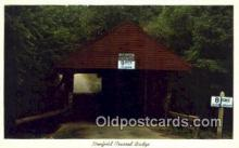 cou100234 - Newfield, Tompkins Co, NY USA Covered Bridge Postcard Post Card Old Vintage Antique