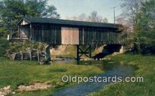cou100238 - Graham, Ashtabula Co, OH USA Covered Bridge Postcard Post Card Old Vintage Antique