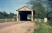 cou100239 - Denmark, Ashtabula Co, OH USA Covered Bridge Postcard Post Card Old Vintage Antique