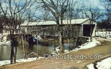 cou100242 - Mechanicsville, Ashtabula Co, OH USA Covered Bridge Postcard Post Card Old Vintage Antique