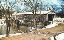 cou100243 - Mechanicsville, Ashtabula Co, OH USA Covered Bridge Postcard Post Card Old Vintage Antique