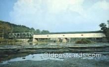 cou100250 - Grand, Harpersfield, OH USA Covered Bridge Postcard Post Card Old Vintage Antique