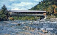 cou100252 - Covered Bridge, USA Covered Bridge Postcard Post Card Old Vintage Antique