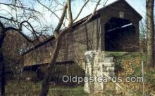 cou100253 - Meems Bottom, VA USA Covered Bridge Postcard Post Card Old Vintage Antique